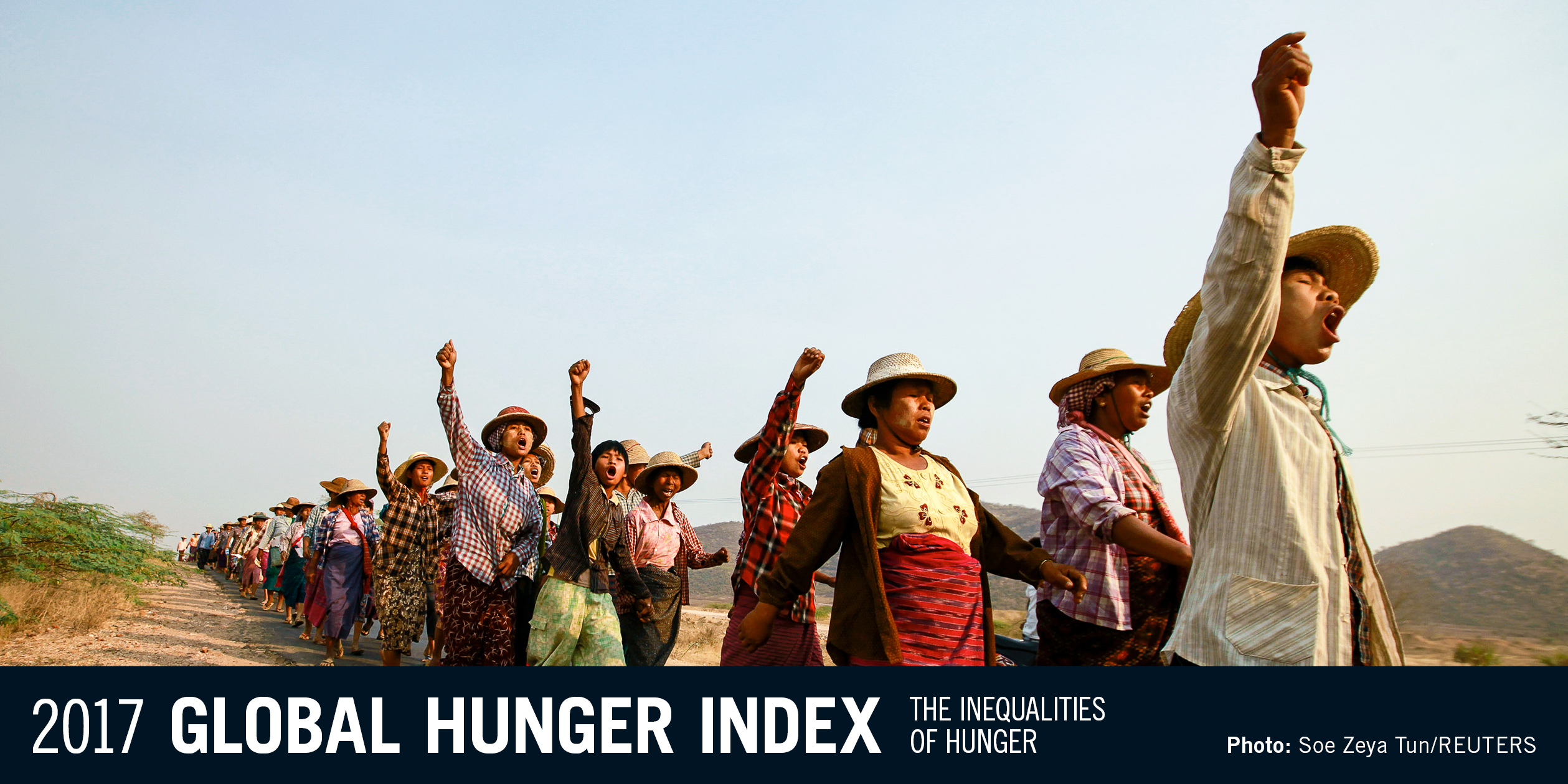banner of the 2016 Global Hunger Index; links to topic page on IFPRI website
