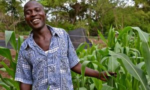 Young farmer in Kenya