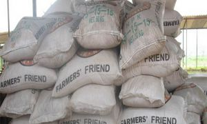 Bags of fertilizer