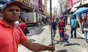 City street scene in Brazil