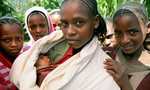 Women with infant in Ethiopia