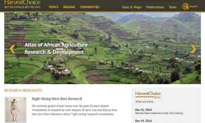 Screenshot of the HarvestChoice website