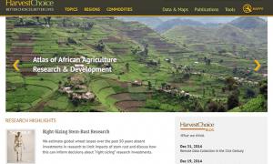 Screenshot of the HarvestChoice website