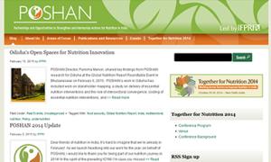 Screenshot of the POSHAN Website