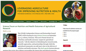 Website of the 2020 Conference on Leveraging Agriculture for Improving Nutrition and Health