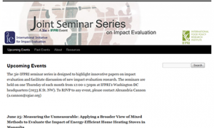 3ie-IFPRI seminars website