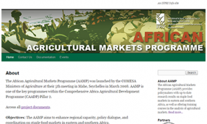 African Agricultural Markets Programme website
