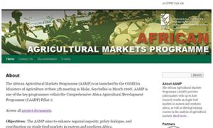African Agricultural Markets Programme website