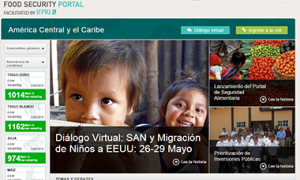 Screenshot of the Central America and Caribbean Food Security Portal