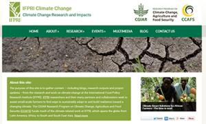 IFPRI Climate Change website
