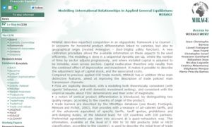 MIRAGE: Modeling International Relationships in Applied General Equilibrium