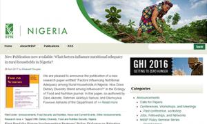 Nigeria Strategy Support Program Website