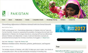 Pakistan Strategy Support Program Website