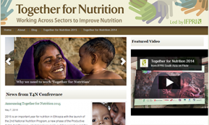 Screenshot of the Together for Nutrition website