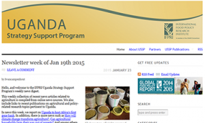 Uganda Strategy Support Program Website