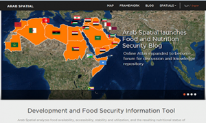Screenshot of Arab Spatial Tool and Blog