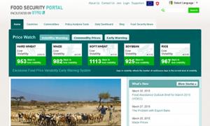 Screenshot of the Food Security Portal