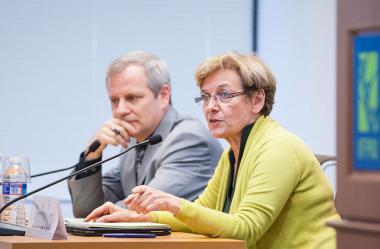 IFPRI's John Hoddinott and WFP's Annalisa Conte