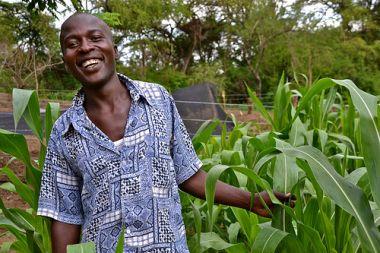 Young farmer in Kenya