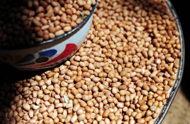 Groundnuts at Sawla market in Ghana's Northern Region.