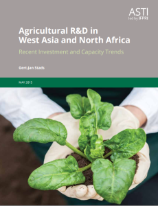 AGRICULTURAL R&D IN WEST ASIA AND NORTH AFRICA