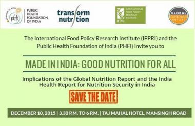 Made in India: Good Nutrition for All
