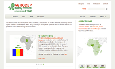 Screenshot of AGRODEP website