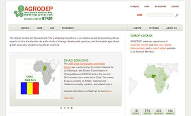 Screenshot of AGRODEP website
