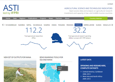 Link to Agricultural Science and Technology Indicators (ASTI) website