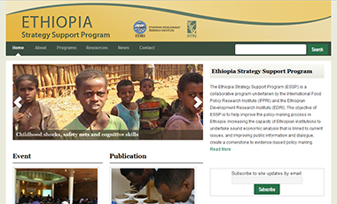 Screenshot of the ESSP website