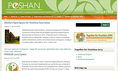 Screenshot of the POSHAN Website
