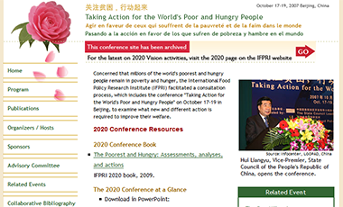 screenshot of the 2020 China Conference website