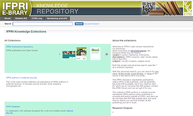 IFPRI knowledge collections repository