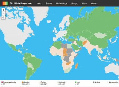 The Global Hunger Index Interactive Map IFPRI - Interactive map of world