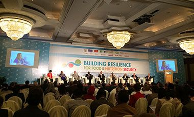 Participants in the 2020 conference on building resilience