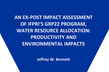 An ex-post impact assessment of IFPRI's GRP22 program, water resource allocation: Productivity and environmental impacts