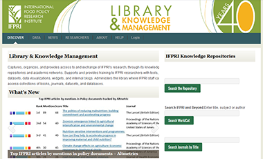 Library and Knowledge Management Website
