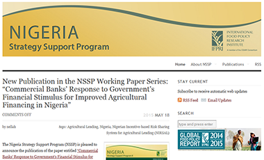 Nigeria Strategy Support Program website