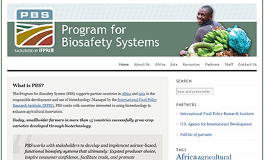 Program for Biosafety Systems website