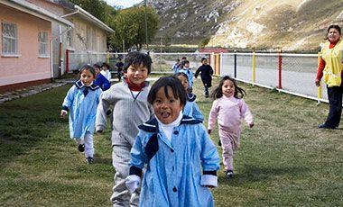 school children wearing blue