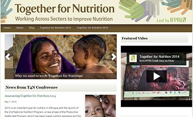 Screenshot of the Together for Nutrition website
